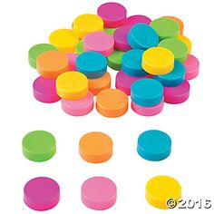 Neon Assorted Bottle Caps