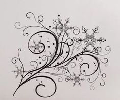 Snowflake Flow 2 Wall Decal Vinyl Decor Art Modern by UberDecals, $16.98