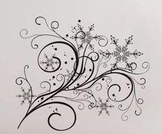 Snowflake Flow 2 Wall Decal Vinyl Decor Art Modern by UberDecals, $16.98