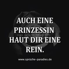 - ▪Sayings & Quotes - Sogar eine Prinzessin wird dich sauber machen. - ▪Sprüche & Zitate - Even a princess will clean you up. - ▪Sayings & Quotes - Happy Quotes, Funny Quotes, What's True Love, German Quotes, Fit Couples, Truth Of Life, Just Be You, Gym Humor, Sarcasm