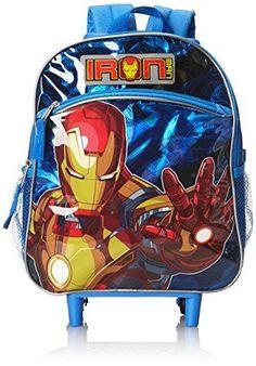 eBay  Sponsored The Avengers Iron Man Rolling Backpack Toddler 12