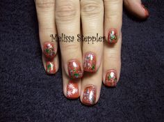 CND Brisa Gel with Shellac Hollywood, snowflakes and nail foil