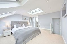 L-shaped loft conversion wimbledon modern style bedroom by homify modern Here you will find photos of interior design ideas. Get inspired! Loft Room, Bedroom Loft, Home Decor Bedroom, Bedroom Furniture, Bedroom Ideas, Master Bedroom, Extra Bedroom, Bedroom Wall, Bedroom Carpet