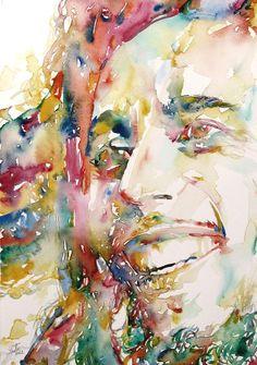 Bob Marley Watercolor Portrait 4 by Fabrizio Cassetta
