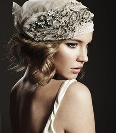 Gorgeous jeweled scarf #bride #headpiece