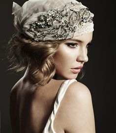 Gorgeous jeweled scarf #bride #headpiece