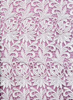 "leaf venice lace 36"" wide, $69/yd"