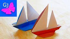Оригами парусник из бумаги