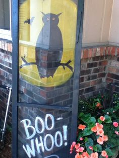 My own creation--hand painted Halloween window screens for seasonal decor. Sale is October 11 & 12, 2013 in Roscoe, IL. http://nellieskitchenbarnsale.blogspot.com/p/next-barn-sale-october-2012.html