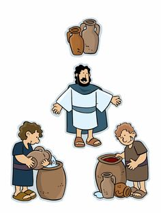 Picture_Miracles in the Bible_Water Changed to Wine. Sunday School Crafts For Kids, Sunday School Activities, Sunday School Lessons, Bible Resources, Bible Activities, Bible Stories For Kids, Bible For Kids, Bible Crafts, Bible Art