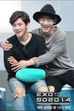 I just love these two a lot. Exo Chen, Exo K, Exo Couple, Kim Jongdae, Baekhyun Chanyeol, Seriously Funny, Chinese Boy, Chanbaek, Girls Life