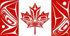 By Nigel Fox (Ojibwe) Artwork canadian flag. I vote we replace the regular maple leaf flag with this one. So distinctive as opposed to so bland. Native Canadian, Canadian Art, Native American Art, Canadian Flag Tattoo, Canadian Flags, Canadian Culture, Canadian Things, Canadian Bacon, Canadian Food