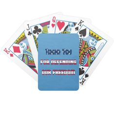 Patriotic Thank You For Defending Our Freedom Bicycle Playing Cards