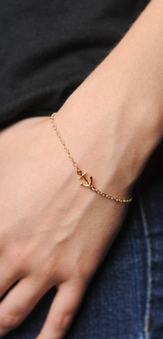 Delicate Anchor Charm Bracelet at Sevenly,  Get it & proceeds go to protect 14 children in Africa from 7 diseases!