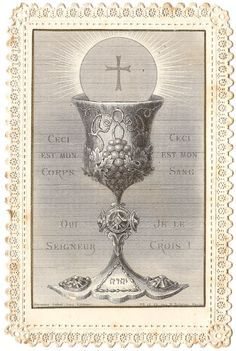 Communion Chalice Still Life Antique French by 12StarsVintage