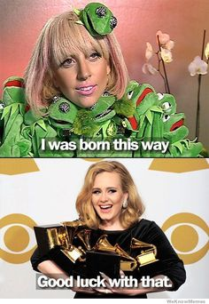 I have no problem with Lady Gaga (can I get a 'You and I' up in here?!!), but this is kinda funny...