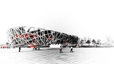 Processed with Adobe Photoshop Lightroom Stadium Architecture, Art And Architecture, Beijing National Stadium, Chinese Drawings, Asia, National Art, Architectural Presentation, Building Structure, Beijing China