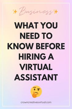 So, you're thinking of hiring a virtual assistant. It can be overwhelming to figure out how to work with someone virtually. Email Campaign, Virtual Assistant, Content Marketing, Need To Know, Equation, Knowing You, Online Business, Meant To Be, Congratulations