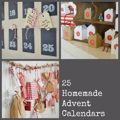 25 homemade advent calendars compiled by  growingspaces.net