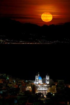 Syros ~ flirting with the moon in the Cyclades Island of Greece