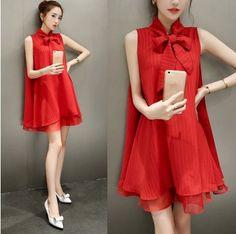 c61512d3ddf Find More Dresses Information about Maternity Clothing Summer 2016 Fashion  Korean Stripe Chiffon Vest Dress Women s