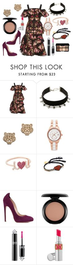 """Beauty Behold"" by hillarymaguire ❤ liked on Polyvore featuring Alexander McQueen, Vanessa Mooney, Kenzo, Michael Kors, Sydney Evan, Venessa Arizaga, Chloe Gosselin, MAC Cosmetics, Guerlain and Yves Saint Laurent"