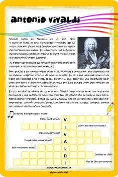 Mientras conocemos la historia de Antonio Vivaldi, vamos a realizar un acróstico para entender algunos conceptos principales. Lets Go, Composers, Concert, Historia