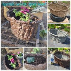 Dip your wicker basket in hypertufa concrete for the garden.  Why? Well if you are like me I like how potted plants looks in baskets sitting in the garden and even on the deck. But there is a problem with this- the baskets rot after a season and then you throw it away. I have … … Continue reading →