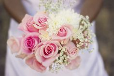 Pink Floral  Mountain Bridal Session in Phoenix, Arizona by Franciose Photo