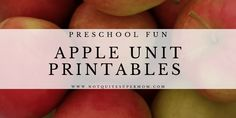 You will adore these cute apple printables! This packet is loaded with fun learning activities that will keep your preschooler engaged & learning. Apple Unit, Apple Books, Fun Learning, Learning Activities, Circle Time Board, Gail Gibbons, Preschool Schedule, Cutting Practice, Apple Activities