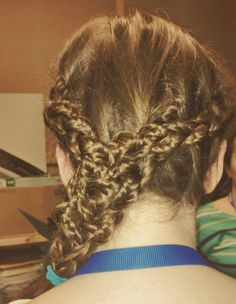 Little messy but braids upon braids upon braids done by me