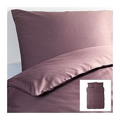 "GÄSPA duvet cover and pillowcase(s), dark lilac Duvet cover length: 86 "" Duvet cover width: 86 "" Pillowcase length: 20 "" Duvet cover length:..."