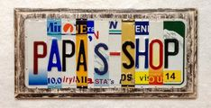 Your place to buy and sell all things handmade 10 Year Anniversary Gift, License Plate Art, Tin Gifts, Fathers Day, Birthday Gifts, Unique Gifts, Art Sign, Letters, Messages