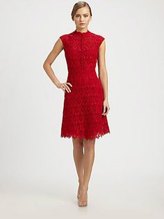 Valentino Macramé Lace Dress - Look for colored lace as a Spring 2013 style trend.