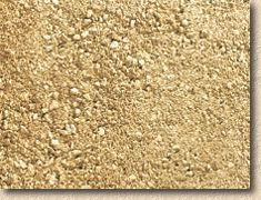 Breedon Gravel, a crushed magnesian limestone from Derbyshire that has an attractive colour described as 'Golden Amber'. It's found favour at Buck House in London, where all the paths are dressed with it, and it has also been used on other properties belonging to Her Maj and the other Royals.