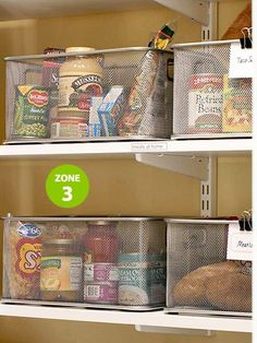 A very clever idea.  Organize your pantry by having a dinner basket for each night of the week.  Have all the ingredients for that meal in the basket.  Grab the basket and start cooking!