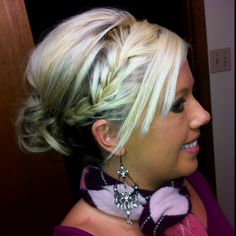 Another DIY hairstyle from Pinterest :)