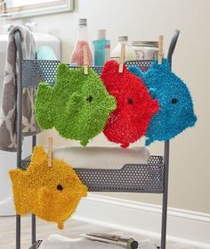 School of Fish Scrubbies Free Knitting Pattern LW5412                                                                                                                                                                                 More