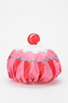Cupcake shower cap for the other stocking