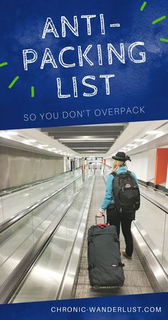 How not to overpack and just take the right things on your trip! This anti packing list will help! #packinglist #travel #travelling #backpacking #trick #travelhacks #Packing #fortravel longterm or even just #forvacation, #foraweek can be overwhelming....make sure to check out my anti-packing list, to make planning for your next domestic or #international trip a breeze!