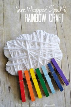 Making rainbow crafts is among my favorite things in spring time! In our excitement about the prediction of an early spring this year, we combined our recent favorite activity of yarn wrapping with some fun fine motor work and created this yarn wrapped cloud and rainbow craft. {This post contains affiliate links to the products …