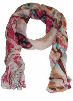 Meninas, esse echarpe nos lembra das cores da primavera, não ? #primavera #echarpes #naak #top