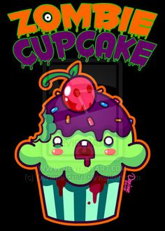 Zombies and cupcakes.  2 of my favorite things rolled into one. :)