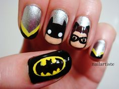 The Nail Artiste - Batman and Catwoman
