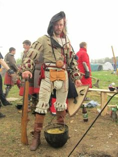 Simple Landsknecht outfit by Noble Craft and History on Facebook.