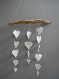 DIY: Clay heart mobile