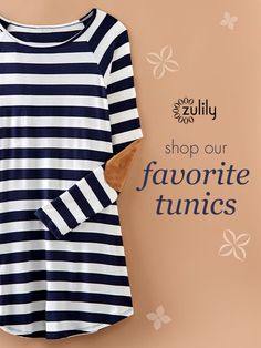 Sign up today to discover effortlessly flattering Tunics at prices up to 70% Off! Huge selection with new styles added each and every day! Build your stylish wardrobe at http://zulily.com!