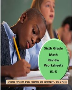 FREE! 6th Grade Math Review Worksheets #1-5. Daily spiral review of Common Core sixth grade math concepts. They also prepare students for our unit tests. Answer keys are provided. Math concepts are reviewed in a lower and higher level format. 5 problems per day/worksheet.