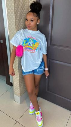 Baddie Outfits Casual, Swag Outfits For Girls, Teenage Girl Outfits, Cute Swag Outfits, Teenager Outfits, Dope Outfits, Teen Fashion Outfits, Girly Outfits, Pretty Outfits