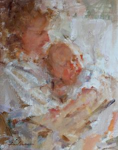 Mother & Child by Carolyn Anderson, Oil, 14 x 11 Kim English, Iris Painting, Heritage Museum, Figure Reference, Mother And Child, Woman Face, Figurative Art, Contemporary Art, Fine Art